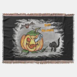 Ghost, Bat and Cat, Happy Halloween!