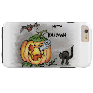 Ghost, Bat and Cat, Happy Halloween! Tough iPhone 6 Plus Case