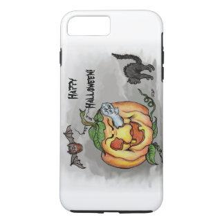 Ghost, Bat and Cat, Happy Halloween! iPhone 7 Plus Case