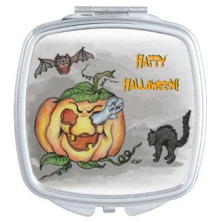 Ghost, Bat and Cat, Happy Halloween! Makeup Mirror