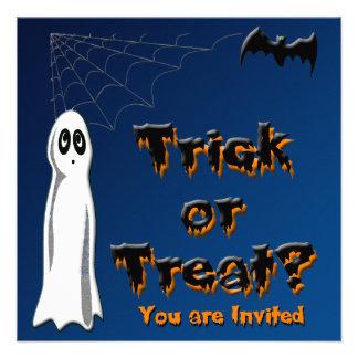 Ghost & Bat Halloween Invitation