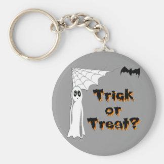 Ghost Bat Trick or Treat Key Chain