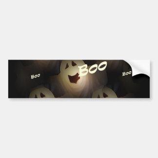 Ghost Boo's Halloween Bumper Sticker Car Bumper Sticker