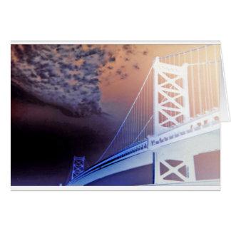Ghost Bridge Greeting Card