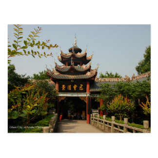 Ghost City, Fendu, China Postcard