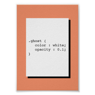 Ghost Color White Opacity 0.1 Funny CSS Poster