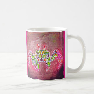 Ghost Crab in Pink Coffee Mug