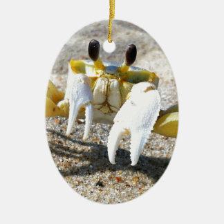 Ghost Crab Surprise Ceramic Ornament