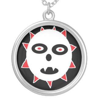 GHOST DOG ROUND PENDANT NECKLACE