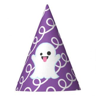 Ghost Emoji (Purple Swirls) Party Hat
