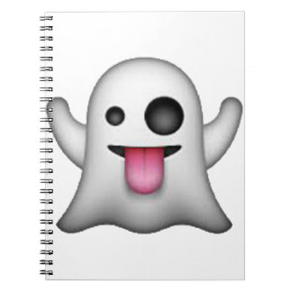 Ghost - Emoji Spiral Notebook