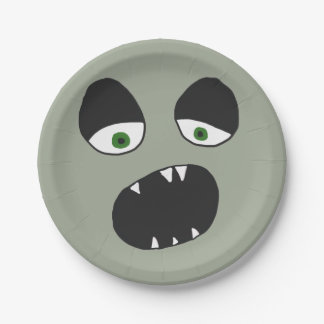 Ghost Face Eyes and Mouth Paper Plate