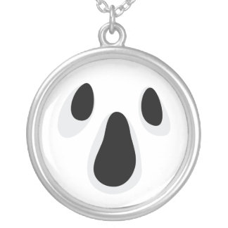 Ghost face necklace