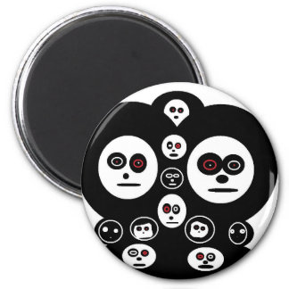 ghost face refrigerator magnet