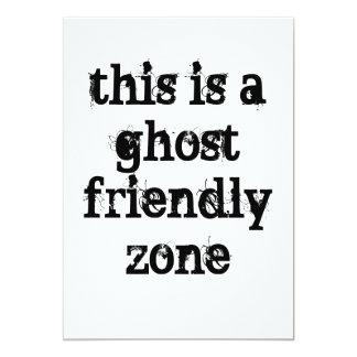 ghost friendly 13 cm x 18 cm invitation card