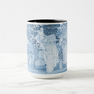 Ghost Girls Escaping Cemetery vintage Art Photo Mug