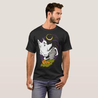 Ghost Graveyard Graphic Halloween Dark T-shirt