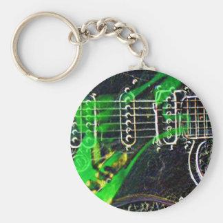 Ghost Guitarist Keychain