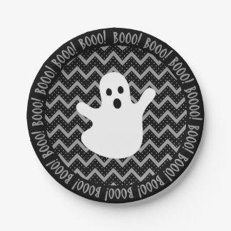 Ghost Halloween Party Paper Plate 7 Inch Paper Plate