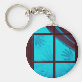 Ghost Hands on Window Basic Round Button Key Ring