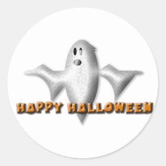 Ghost Happy Halloween Sticker - Set of 20
