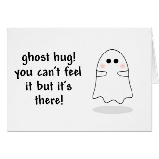 Ghost hug customize card
