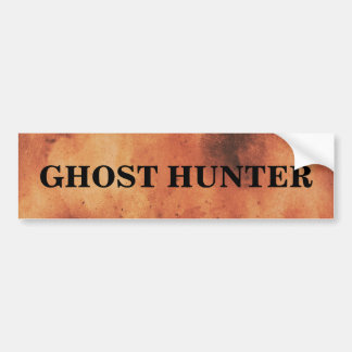 Ghost Hunter Spooky Bumper Sticker