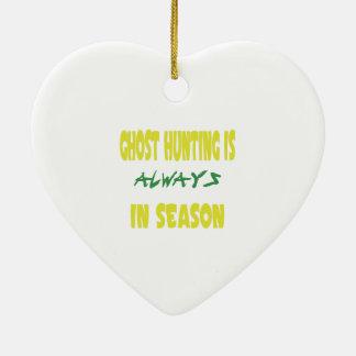 Ghost Hunting Season Ceramic Ornament