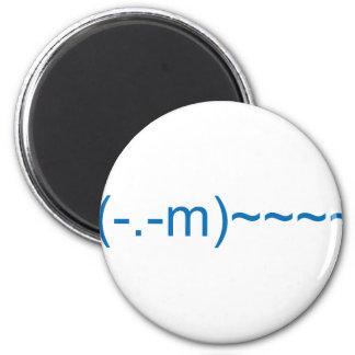 Ghost in Dark Blue 6 Cm Round Magnet
