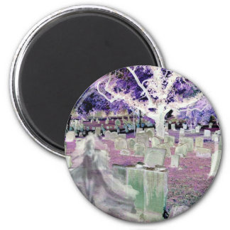 Ghost in the Cemetery Refrigerator Magnet