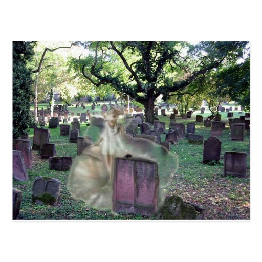 Ghost In The Cemetery Post Cards