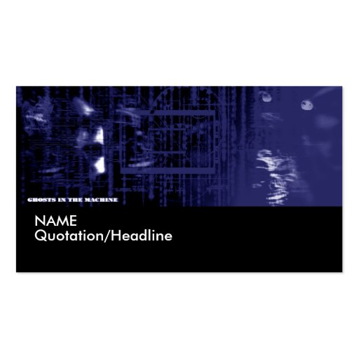 Ghost in the Machine Profile Card Template | Business Cards