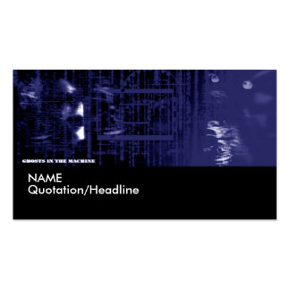 Ghost in the Machine Profile Card Template | Pack Of Standard Business Cards
