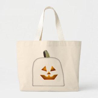 Ghost Jack O Lantern Tote Bags