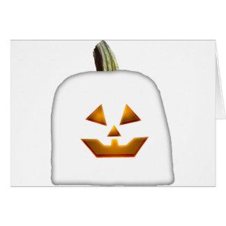 Ghost Jack O Lantern Greeting Card