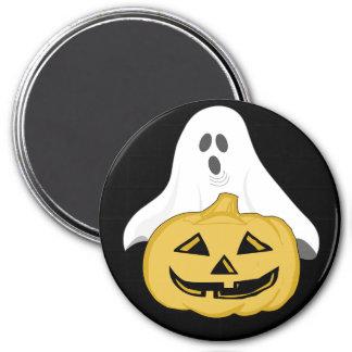 Ghost & Jack-o-lantern 7.5 Cm Round Magnet