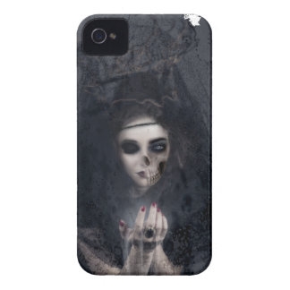 Ghost Lady Haunting Skull Skeleton Case-Mate iPhone 4 Case