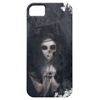 Ghost Lady Haunting Skull Skeleton iPhone 5 Case