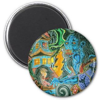 ghost 6 cm round magnet