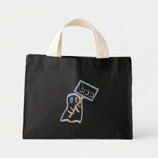 Ghost Mini Black Tote Bag