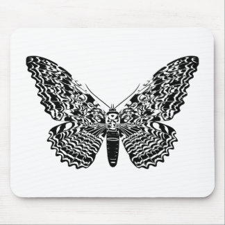 Ghost moth mouse pad