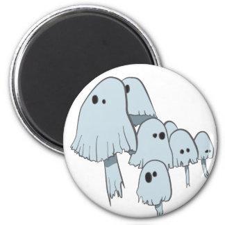Ghost Mushrooms 6 Cm Round Magnet