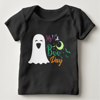 Ghost Night creepy witch woman Boo day black Baby T-Shirt