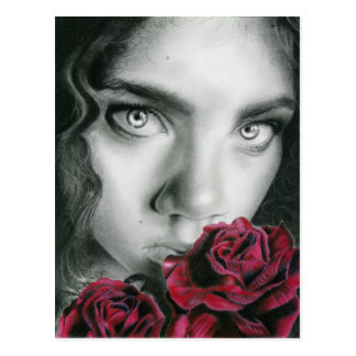 Ghost of a rose gothic beauty Postcard