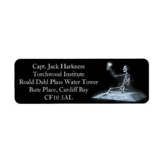 Ghost of a Rose Return Address Labels
