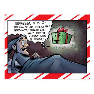 Ghost of Christmas Presents Scrooge Postcard