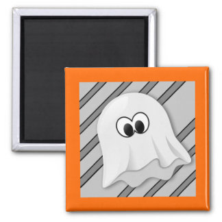 Ghost on Gray Stripe Magnet