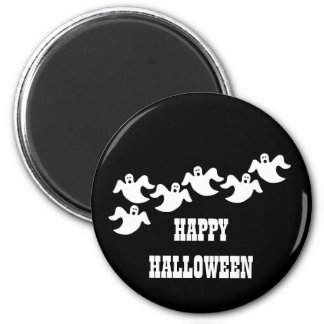Ghost Party Halloween Magnet, Black