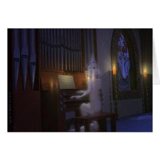 Ghost Playing Organ Card