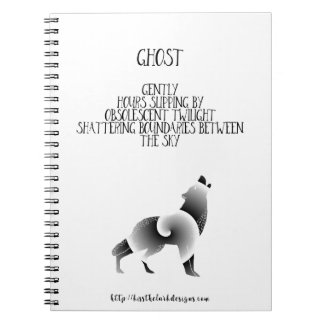 Ghost - Poetry by Jessica Fuqua Spiral Notebooks